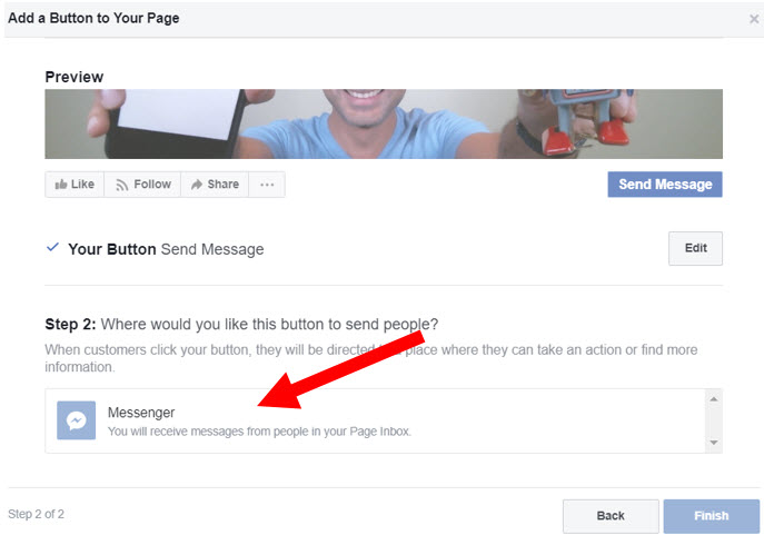 add a send message button